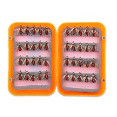 40Pcs Fly Fishing Trout Flies Lures Hooks Set Fishing Tackle  http://fishingrodsreelsandgear.com/product/40pcs-fly-fishing-trout-flies-lures-hooks-set-fishing-tackle/  A great tool for fishing lovers, suitable for trout, marlin and more Each lure with sharp hook makes it a powerful catching tool. bright and shiny colors and secure hooks to hugely attract big fishes Can be used in saltwater and freshwater
