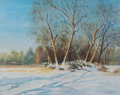 E. Besozzi pitt. 1975 Nevicata acrilico su tela  f.b.d. cm. 40x50  arc. 1407