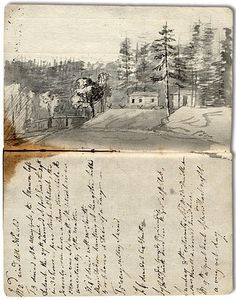Diary of Elizabeth Simcoe, Simcoe family fonds Archives of Ontariol Artist Journal, Art Journal Pages, Art Journals, Journal 3, Travel Journals, Arte Sketchbook, Sketchbook Pages, Graphic Novel, Buch Design