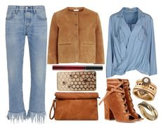 """street style"" by sisaez ❤ liked on Polyvore featuring Vanessa Bruno Athé, 3x1, MAC Cosmetics, Pepe Jeans London, Gianvito Rossi, Lucky Brand and Wallis"