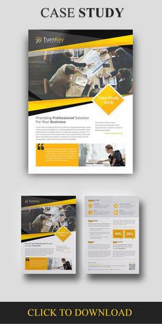 Case Study Template. This Modern and Clean Caste Study Template will give you a sample structure for your case study. You can use this Case Study Template to showcase your company's successes and it will help you to gain new customers in the process. corporate, creative, dossier, editorial, flyer, informational, marketing, multipurpose, newsletter, portfolio, presentation, professional, project, report, research, situation study, strategy, success case, white paper, word