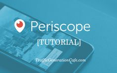 Periscope has a tremendous potential for traffic. But first, you need to learn how to do Periscope. This Periscope Tutorial has everything you need to get you started. http://www.trafficgenerationcafe.com/periscope-tutorial/