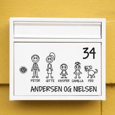 #1 Familie postkasse sticker wallsticker