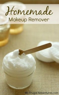 Super simple one ingredient, all natural makeup remover.  Just as effective as the stuff you buy at a fraction of the price!
