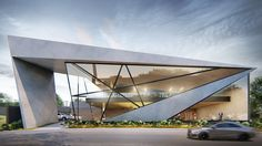 Houses Architecture, Concept Models Architecture, Modern Architecture Design, Facade Design, Futuristic Architecture, Exterior Design, Modern House Facades, Facade House, Home Modern
