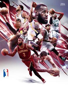 Spurs Cavs Warriors Celtics NBA Art. #wmcskills
