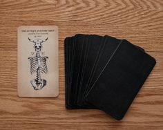 THIS IS A PRE ORDER LISTING - to ship early January 2016  The Antique Anatomy - full 78 card tarot deck  Please note at this time if you purchase