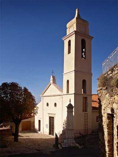 La belle #architecture des monuments corses  #Corsica #village #beautiful #typical #church #France