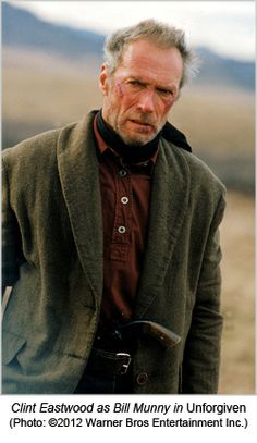 """Clint Eastwood as Will Munny in """"Unforgiven"""" (1992)"""