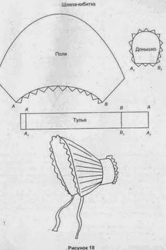 Long Brimmed Victorian Bonnet Pattern Tutorial includes instructions and pattern. Easy to sew, can be made with leftover pieces of cotton blends Doll Dress Patterns, Costume Patterns, Clothing Patterns, Sewing Patterns, Girl Doll Clothes, Barbie Clothes, Girl Dolls, Sewing Hacks, Sewing Projects