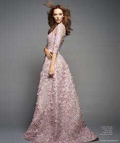 Dovile Virsilaite in Haute Couture © Benjamin Kanarek