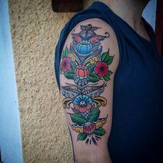 Min kurbitstatuering. Gjord på Hultman family tattoo i Falun av Sofie Johansson