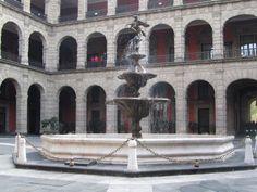 #PalacioNacional en DF, fuente en el patio interno.#ElInicioCreativo