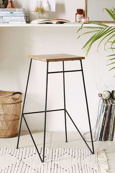 Industrial Stool - Urban Outfitters - Home Decor Industrial Stool, Industrial House, Industrial Furniture, Home Furniture, Furniture Design, Industrial Design, Apartment Furniture, Furniture Stores, Furniture Ideas