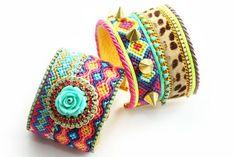 Made to Order SS13 Luxury Swarovski Friendship Bracelet Jewelry Ultra Wide Turquoise Rose Cuff,bohemian indian gypsy style,Ethnic boho style