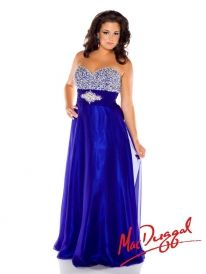 Mac Duggal Fabulouss 61694F Plus Size Beaded Gown - French Novelty