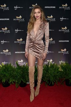 Gigi Hadid's Plunging Vegas Birthday Outfit Trumps Them All via @WhoWhatWear