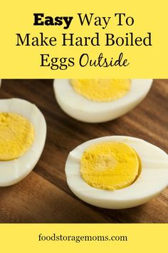 Easy Way To Make Hard Boiled Eggs Outside| by FoodStorageMoms.com