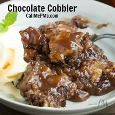 EASY LEMON COBBLER > Call Me PMc Chocolate Cobbler, Pecan Cobbler, Cobbler Recipe, Blackberry Cobbler, Chocolate Syrup, Chocolate Chocolate, Coconut Pound Cakes, Pound Cake Recipes, Easy Desserts