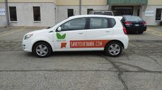 Now's the time to trim your trees, and to get your business vehicles branded.