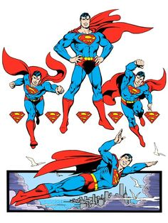 Superman by José Luis García-López from the 1982 DC Comics Style Guide Superman Comic, Superman Characters, Superman Stuff, Superman Logo, Superman Images, Batman, Dc Comics, Action Comics 1, Comic Book Artists