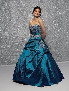 Vestido de 15 Años - Color azul petroleo: Vestidos para tu fiesta