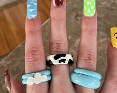Fimo Ring, Polymer Clay Ring, Fimo Clay, Diy Clay Rings, Cute Jewelry, Funky Jewelry, Keramik Design, How To Make Clay, Cute Clay
