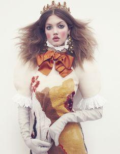 lindsey wixson model10 Lindsey Wixson Models Winter Fashions for Emma Summerton in Vogue Japan