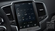 Personnal project 2016. Redesign of the new Sensus touch display (mulititouch) used on the new Volvo XC90.