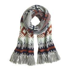 J.Crew women's fair isle stripe scarf.