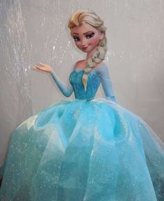 Elsa decoration at a Frozen Birthday Party!  See more party planning ideas at CatchMyParty.com!