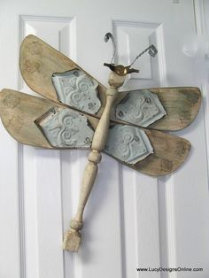 Table Leg Dragonfly Wall Art Wood and Vintage by LucyDesignsonline,