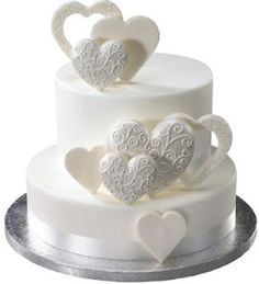 White Heart cake...perfect for Valentine's Day or a small wedding