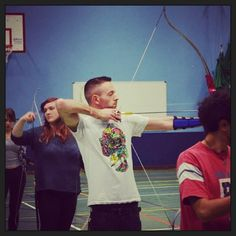 Gettin my #archery on! Shooting for #UL tomorrow in #Dublin . Should be a laugh.  #bow #arrow #competitive #recurve #Padgram