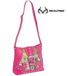 Realtree Xtra® Camo Buckle Messenger Bag for Ladies