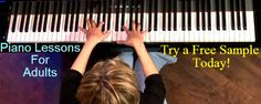 Free Sample Piano Lessons for Adults by Master Piano Teacher.  A proven technique (and supposedly best way) of learning piano online