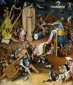 We are an Official Reseller of Parastone Hieronymus Bosch Figurines. Stocked in the US, order Bosch statues from the Garden of Earthly Delights. Hybrid creatures, sinners in hell. Hieronymus Bosch Paintings, Hurdy Gurdy, Jan Van Eyck, Arte Tribal, Art Optical, Garden Of Earthly Delights, Dutch Painters, Creepy Art, Renaissance Art