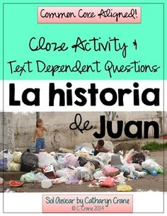 Common Core Spanish Close Reading and Text Dependent Questions through Song! $tpt