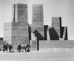 "'Hannsjörg Voth's ""City of Orion"" is composed by seven observation towers of stamped clay representing each one of the Orion stars. Their arrangement in plan follows the celestial location and their height amounts to approximately 15-16 meters while their dimensions in width and depth are derived by the brightness and the extent of the corresponding stars.'"