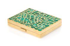 An 18 Karat Yellow Gold, Emerald and Green Beryl Compact, Suzanne Belperron, 152.30 dwts. The Estate of Gerard L. Cafesjian  |  April 8, 2014