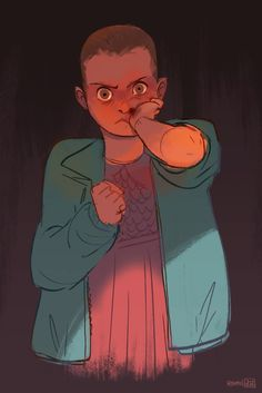 Eleven - stranger things art by abigail l. Stranger Things Have Happened, Eleven Stranger Things, Stranger Things Netflix, Character Inspiration, Character Design, Stay Weird, Old Shows, Art Sites, Fan Art