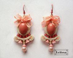 Dwie pary różowych kolczyków | Lolissa sutasz