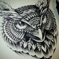 tribal owl tattoo | Tumblr