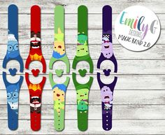 Emotions Disney Magic Band 2.0 Decal or Skin | Custom Waterproof MagicBand 2 Wrap by ShopEmilyG on Etsy https://www.etsy.com/listing/503767049/emotions-disney-magic-band-20-decal-or