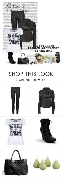 """Beatles rock chic"" by borntodie16 ❤ liked on Polyvore featuring rag & bone/JEAN, Rick Owens, FixDesign, Delicious, Jigsaw and Crate and Barrel"