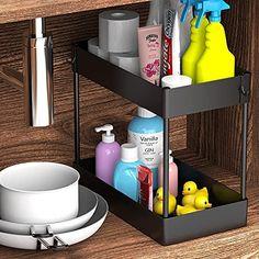 Under Bathroom Sink Storage, Bathroom Sink Organization, Under Sink Organization, Organization Ideas, Bathroom Ideas, Wall Mount Jewelry Organizer, Sink Organizer, Organizers, Space Saving Shelves