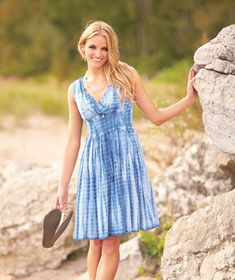 Perfect for those carefree sunny days, Women's Tie-Dye Smocked Waist Dress offers an easy fit. Smocking at the waist makes this V-neck dress comfortable and flattering- also comes in black.