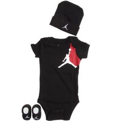 Jordan Baby 3 Piece Graphic Jumpy One Piece Outfit (0-6 months) $19.95 #bestseller