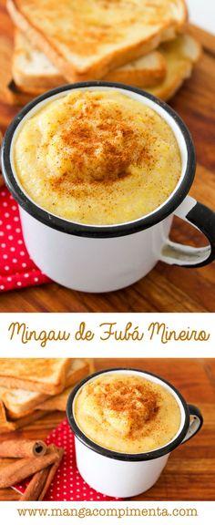 Receita de Mingau de Fubá Mineiro {Receitas Junina} #receita #comida #mingau #fubá #cafédamanhã #café