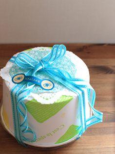 お菓子の簡単ラッピング デコシフォンケーキ